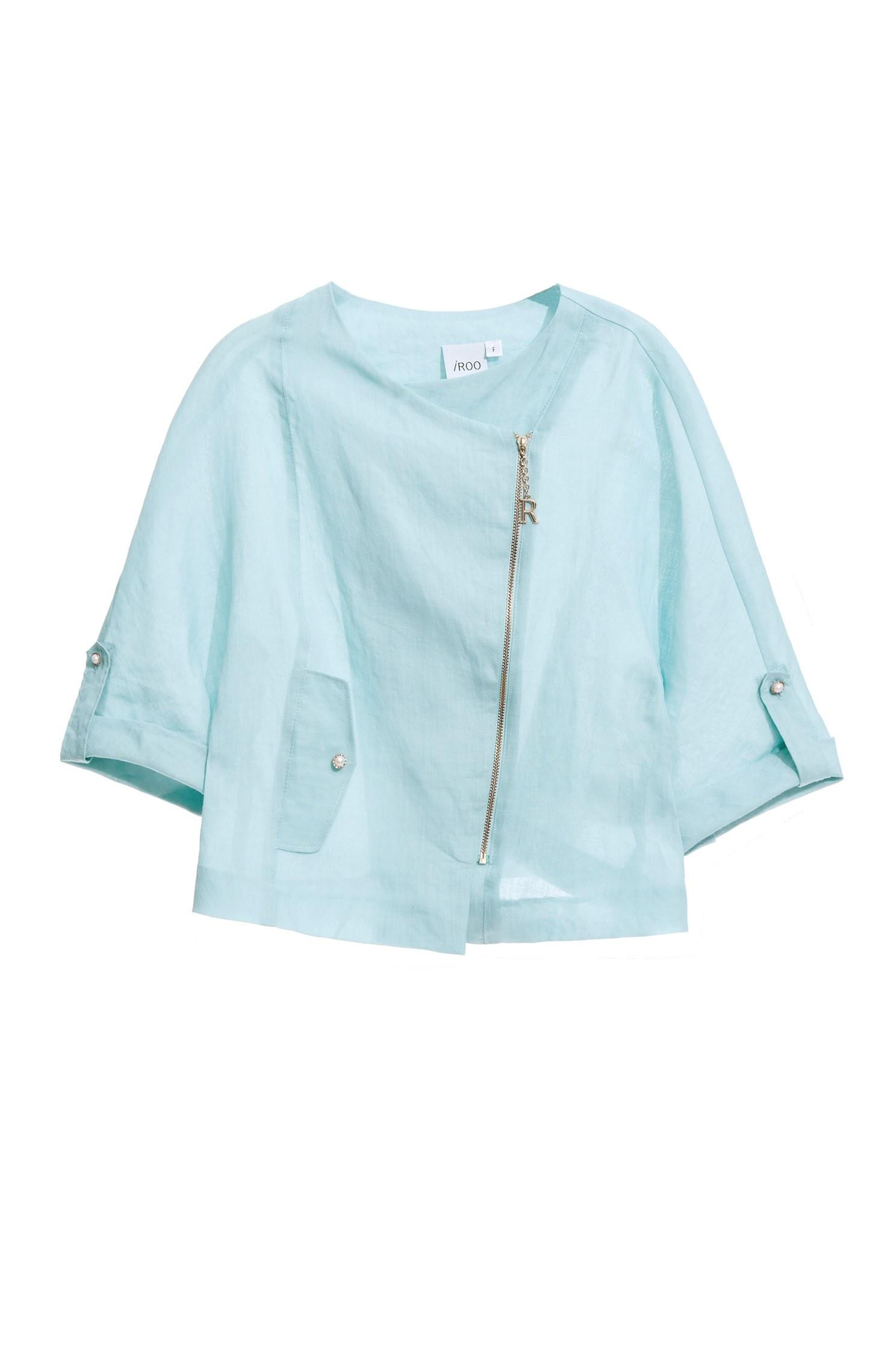 Cotton and linen faux jacket