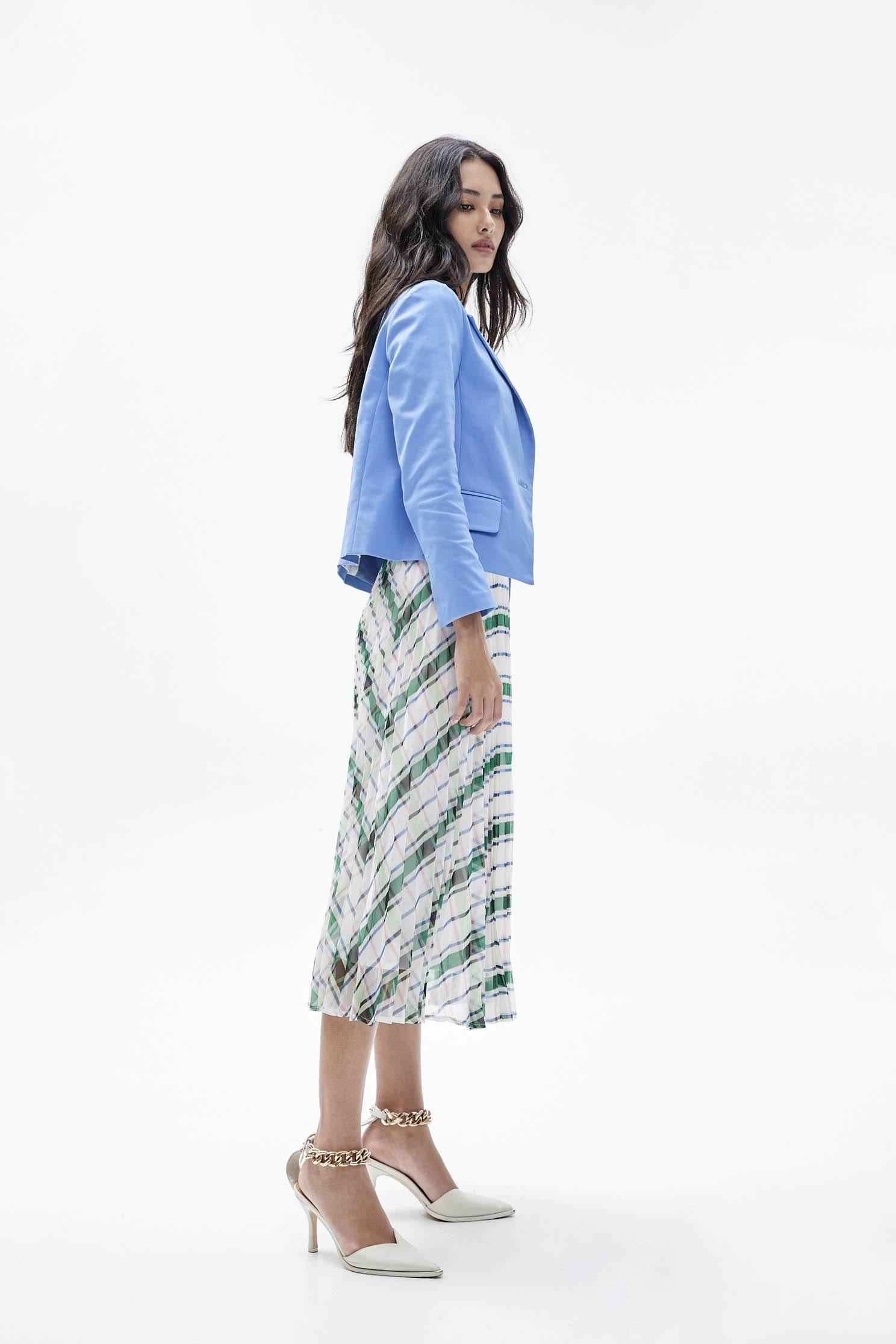 Sky blue short suit jacket,Outerwear,Season (SS) Look,Season (AW) Look,i Select,Blazers,Long sleeve outerwear