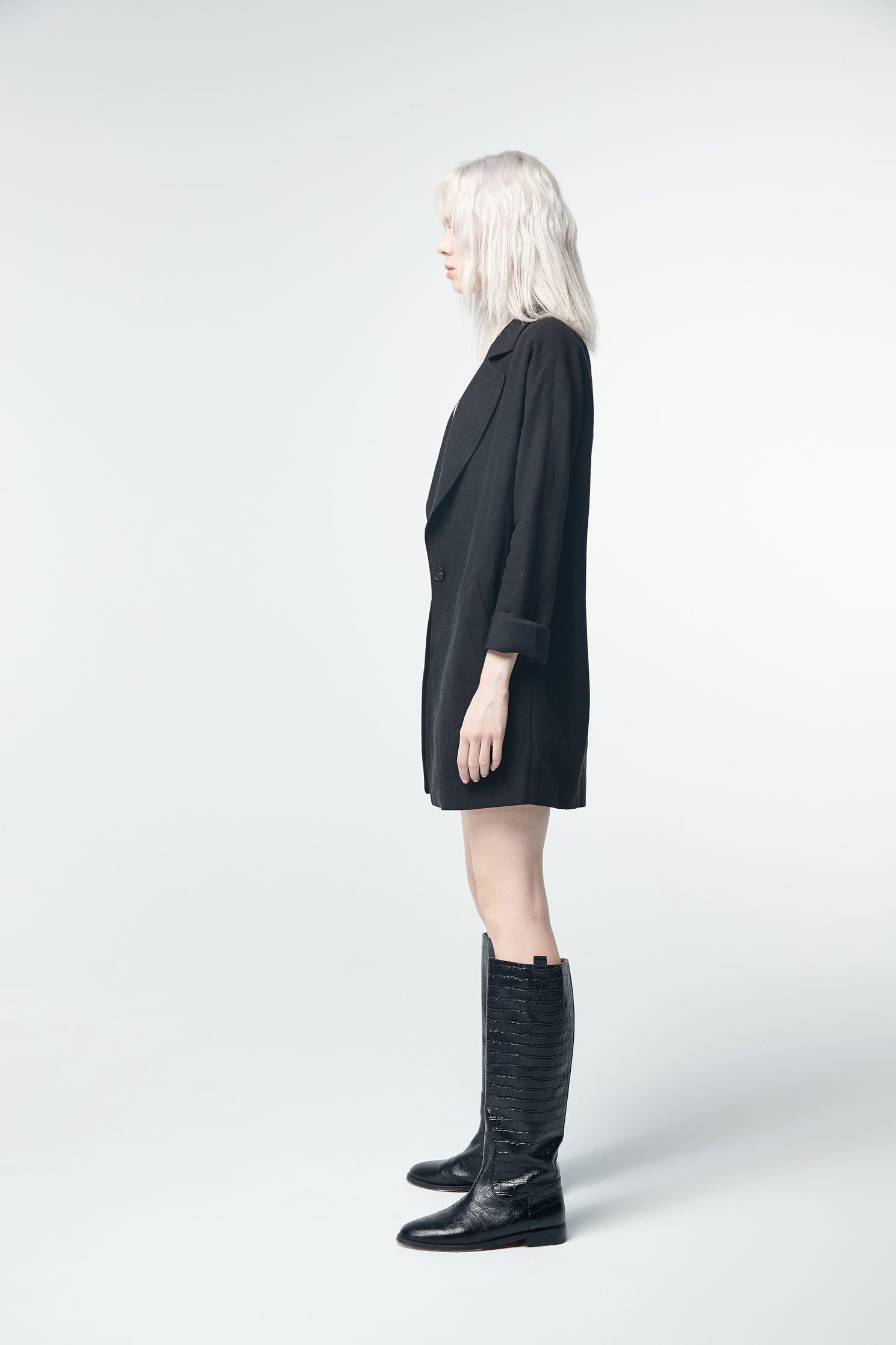 Cotton suit jacket,Outerwear,Season (SS) Look,Season (AW) Look,i Select,Blazers,Long sleeve outerwear,Black outerwear