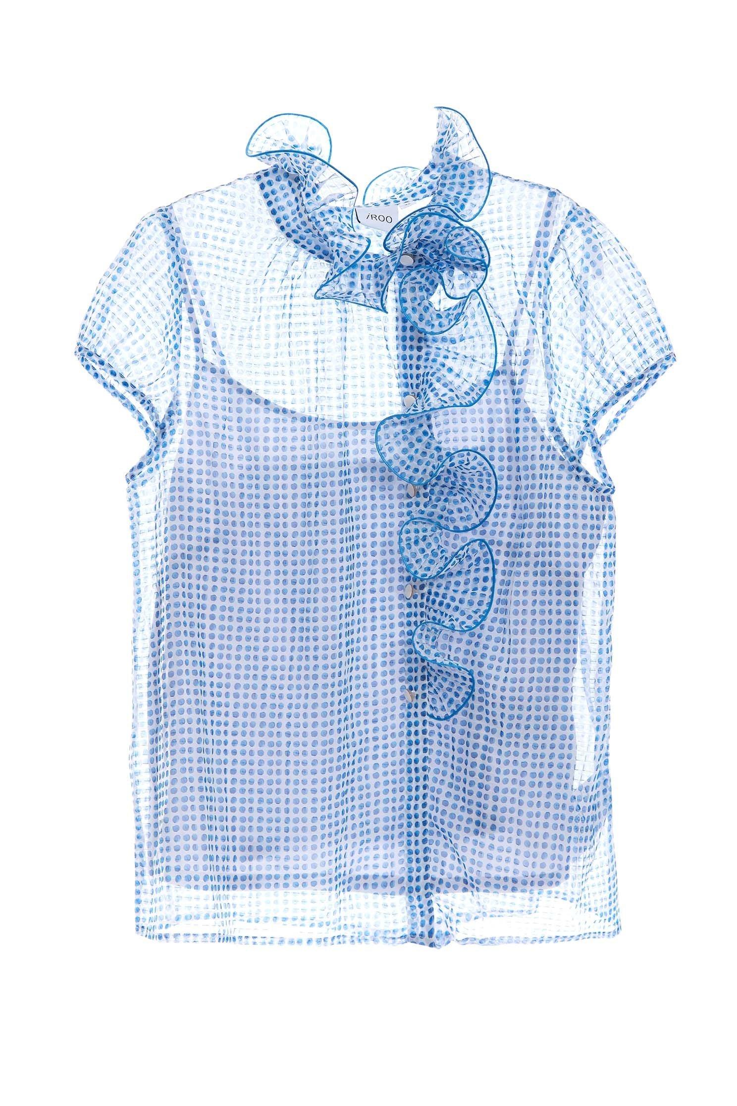 Dot print tulle shirt-style vest,Tops,Season (SS) Look,Restock,Tops,Blouses,Chiffon