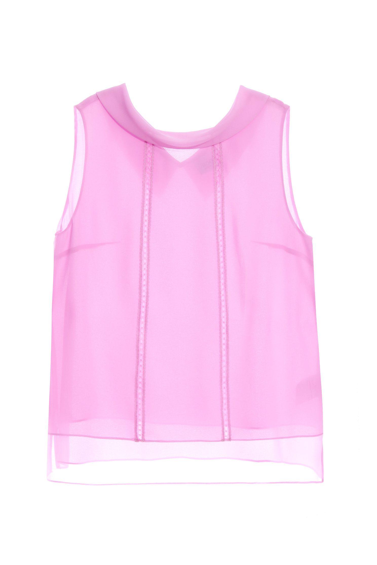 Reverse neckline chiffon top,sleeveless tops,Tops,Season (SS) Look,sleeveless tops,Valentine,sleeveless tops,Lace,Chiffon,Chiffon tops
