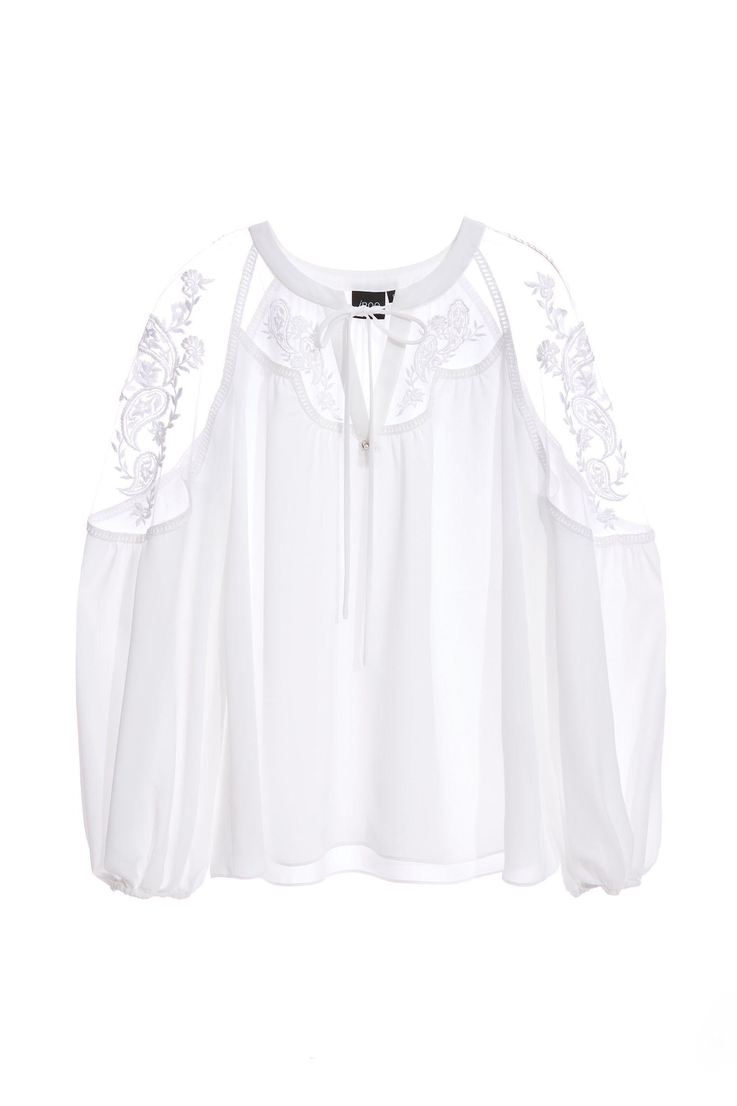 Bohemian embroiderey chiffon top,Tops,Embroidered,Season (AW) Look,Valentine,Lace,Chiffon,Chiffon tops