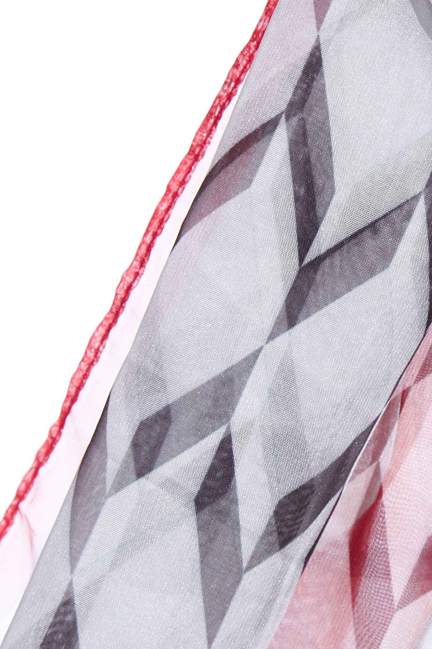iROO original geometric printed silk scarf,Chiffon