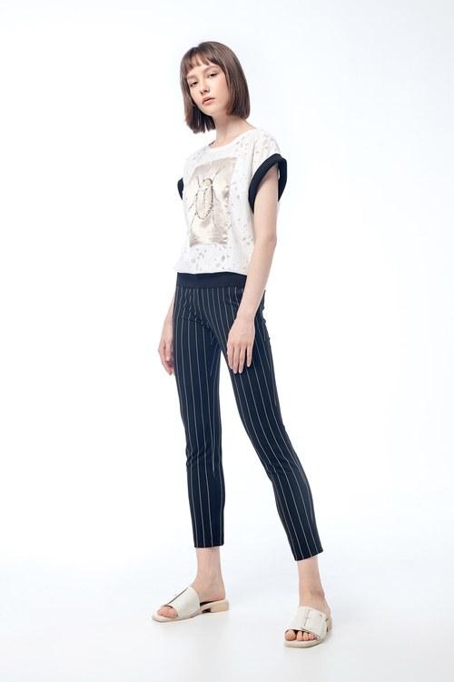 Striped suit pants