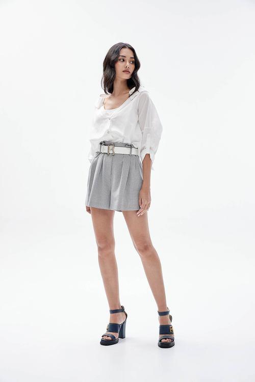 Elastic check shorts