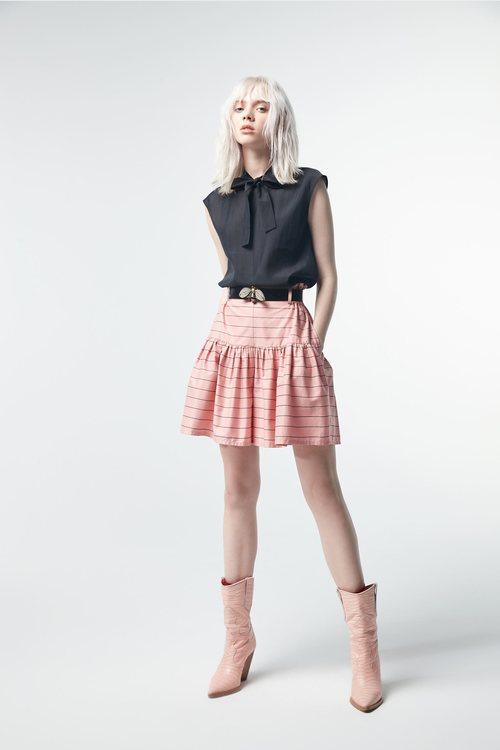 Striped strappy shorts skirt