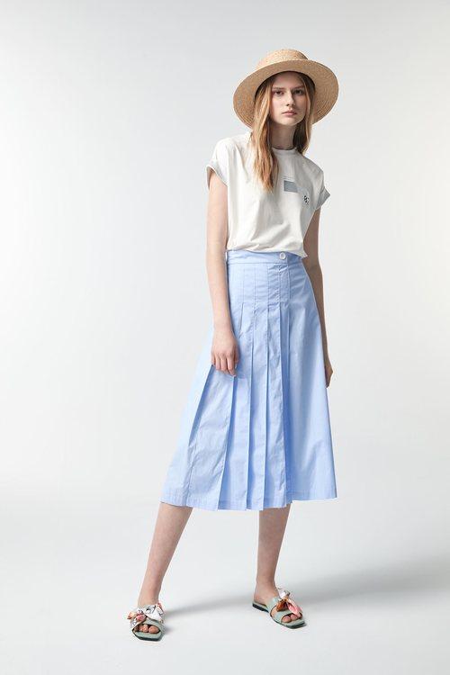 Sky blue pleated Culottes