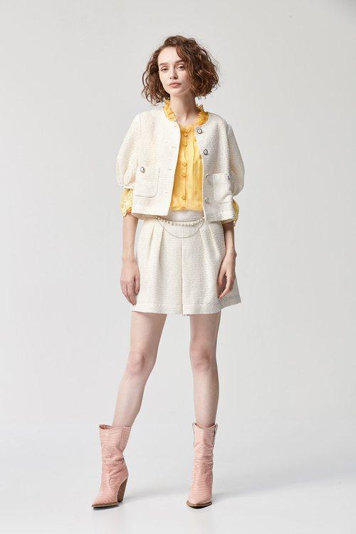 pleated shorts skirt