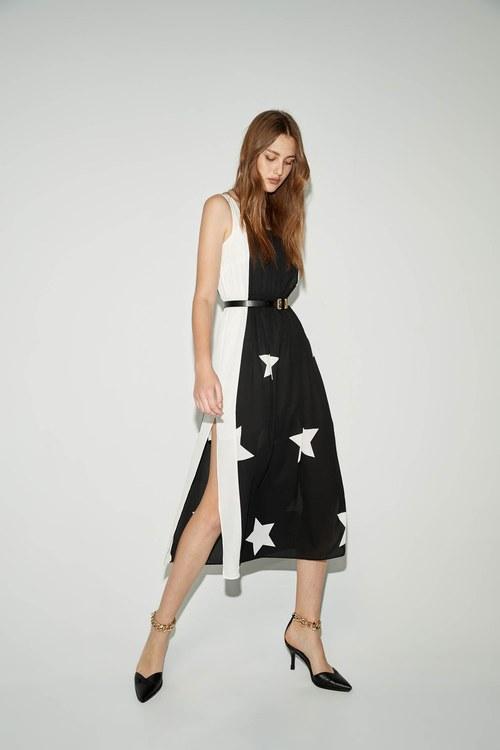 Star square collar dress