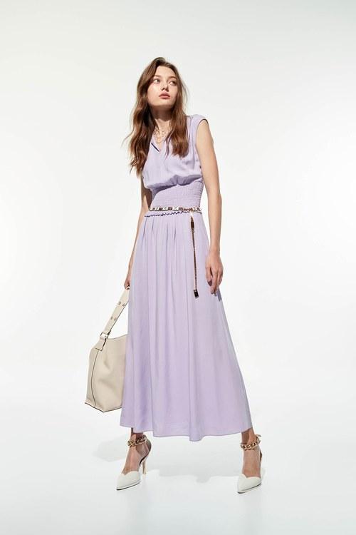 Powder purple long dress