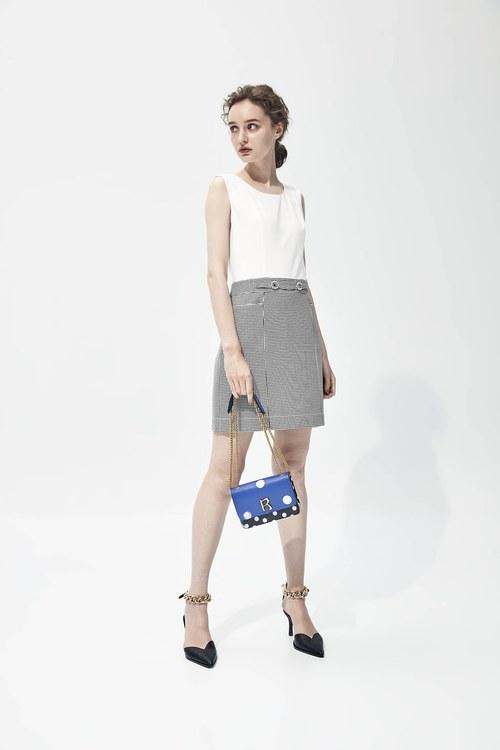 Contrast material dress