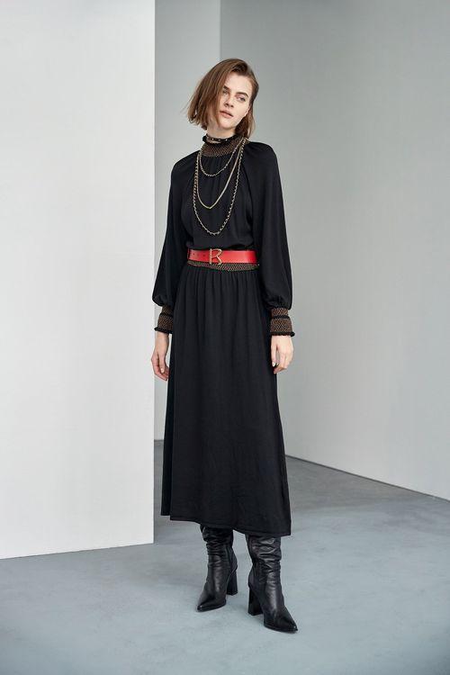 Bohemian style knit long dress