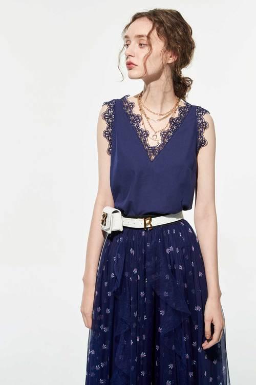 Floral lace vest