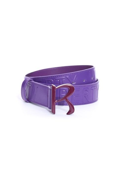Classic R embossed wide belt