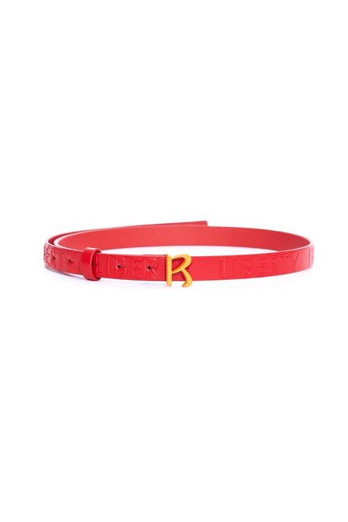 Classic R embossed thin belt