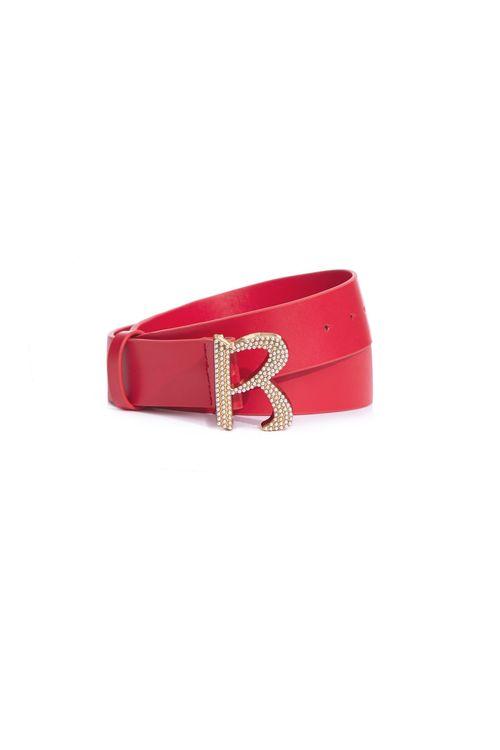 Classic R-word pearl wide belt
