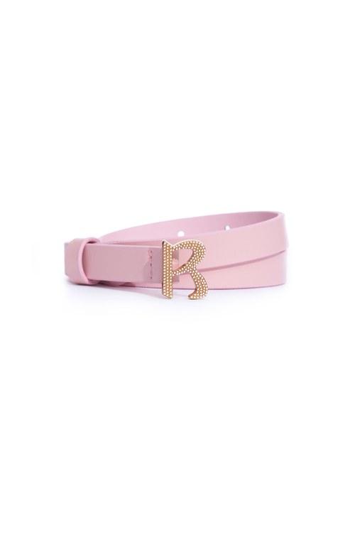 Classic R-word pearl thin belt