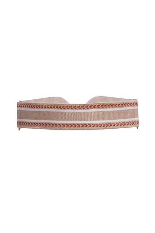 Knit jacquard sash belt