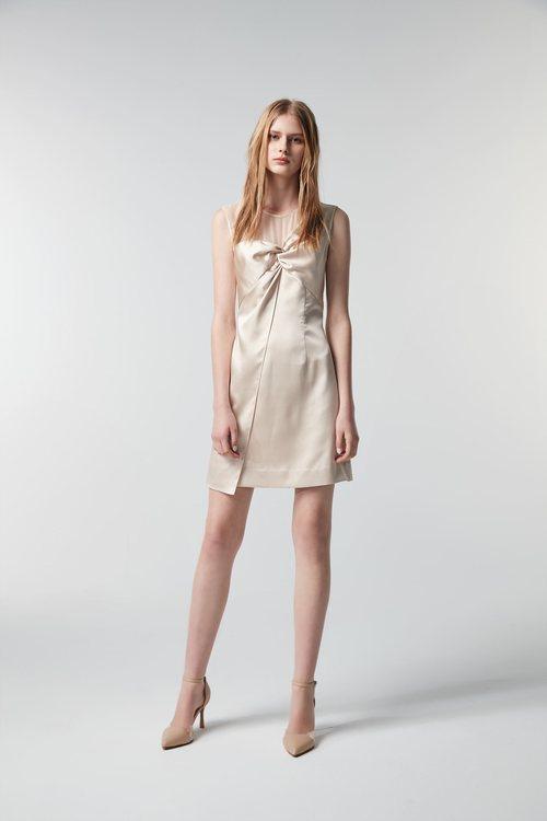 Gold kink short dress