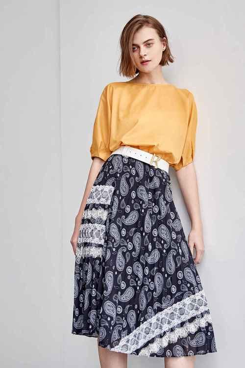 Lace decorative floral skirt